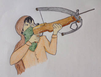 Sadar with crossbow by AbusedPrivilege