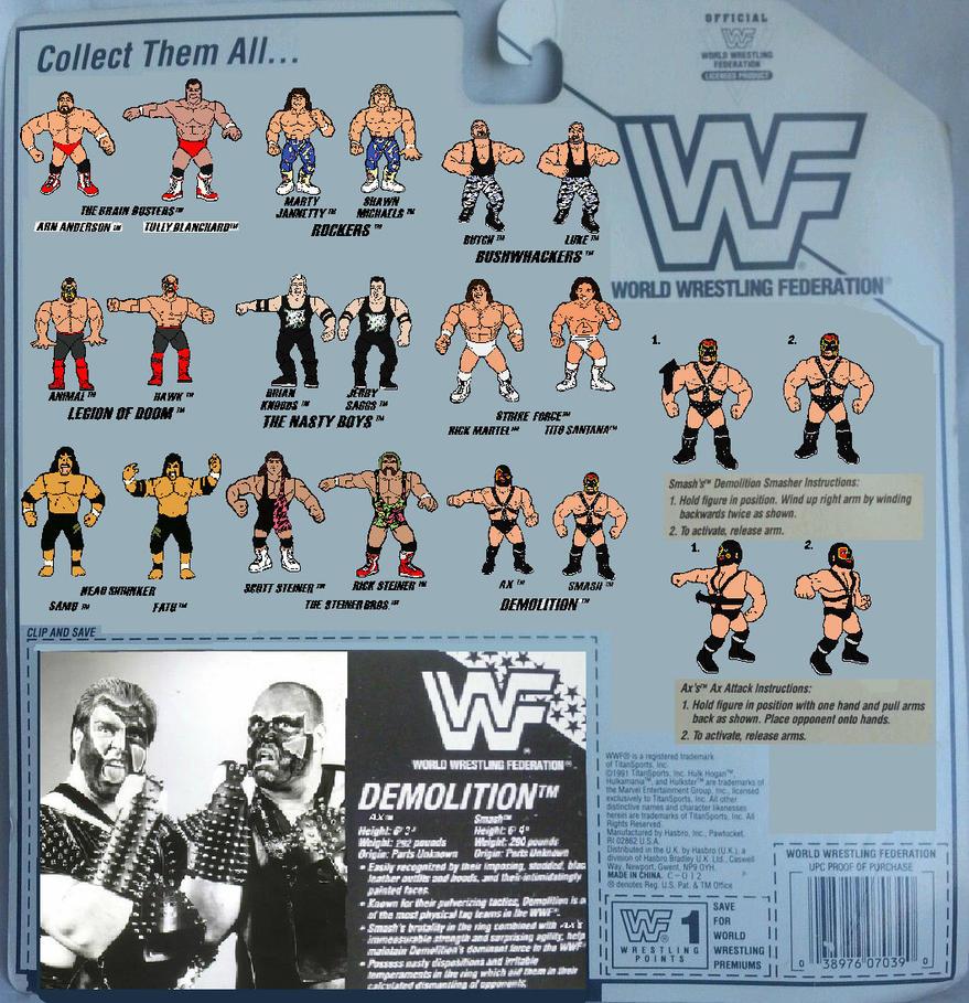 hasbro wwf tagteam card Demolition Back by mekio82