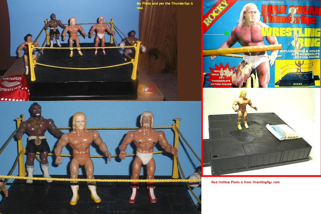 Thunderlips with wrestling ring by mekio82