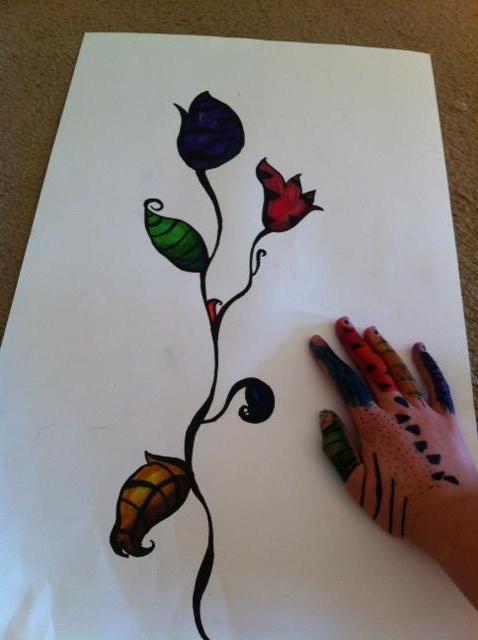 Sharpie Flower by FireShuffler on DeviantArt Sharpie Art Flowers