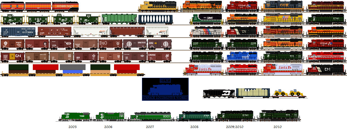 MS Paint Trains by Tractor-Drawn-Aerial