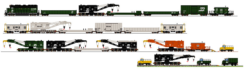 MOW Breakdown Trains By Tractor Drawn Aerial On DeviantArt
