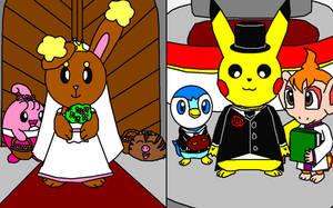 Buneary Pikachu Wedding by gibina4ever