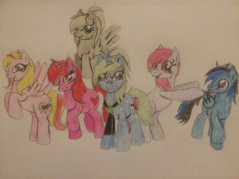 mane six by gibina4ever