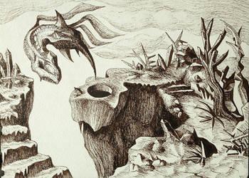 Abstract dragon birth by Ariad-Arts