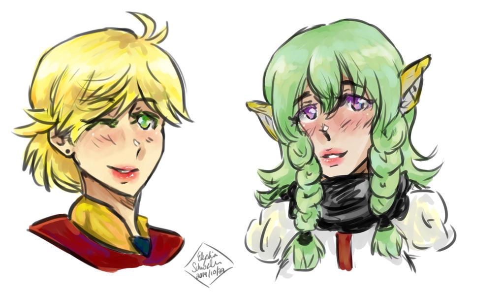Genderbend Edge And Faize by icekitsune13darkfire