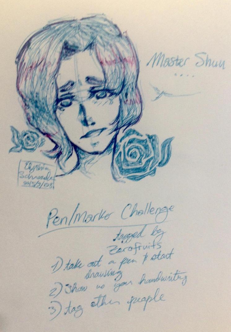 Pen/Marker Challenge by icekitsune13darkfire