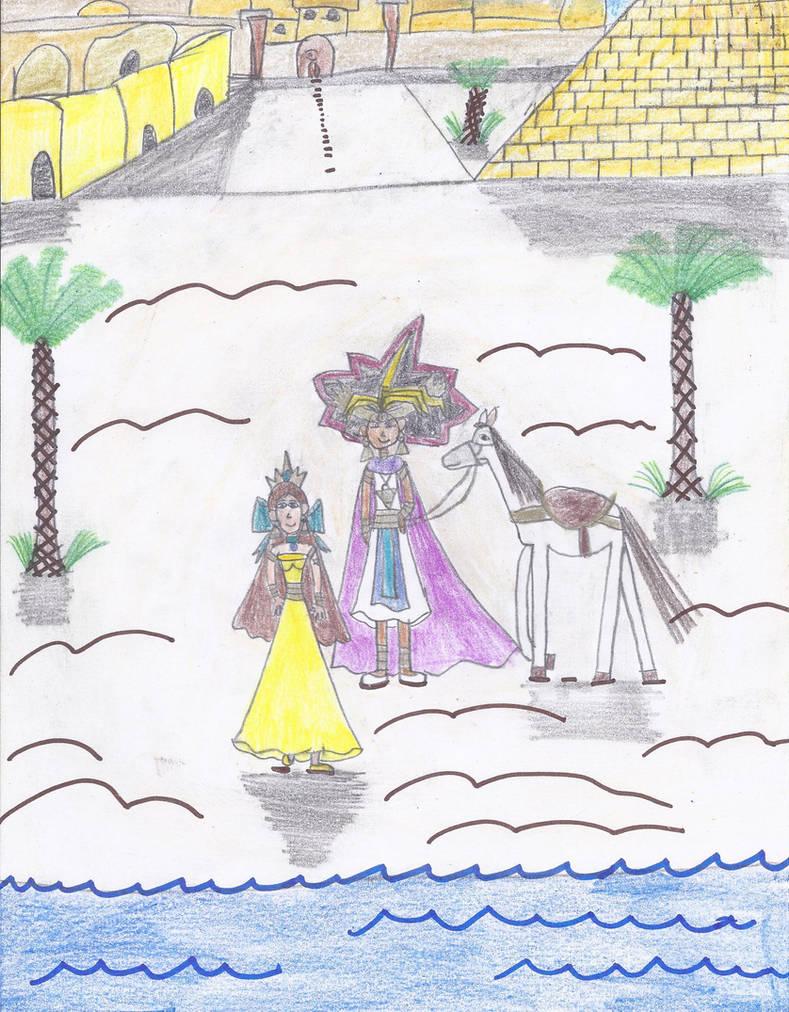 Pharaoh Atem and Princess Ivy