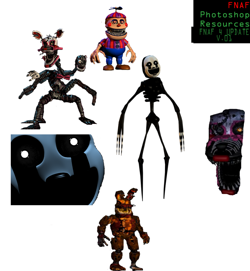 FNAF 4 Halloween Nightmare recourse pack by DreemurrEdits87 on ...