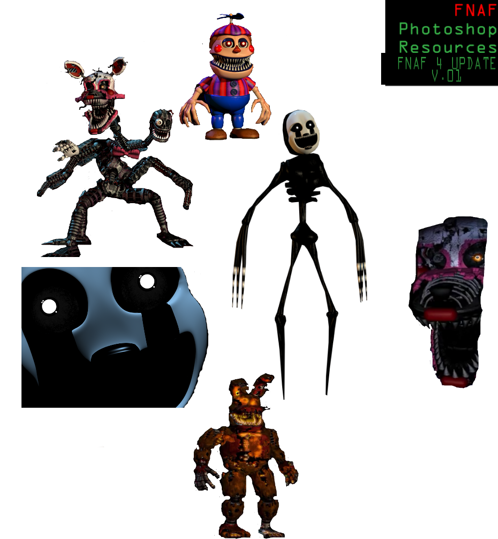 Fnaf 4 halloween nightmare recourse pack by dreemurredits87 on