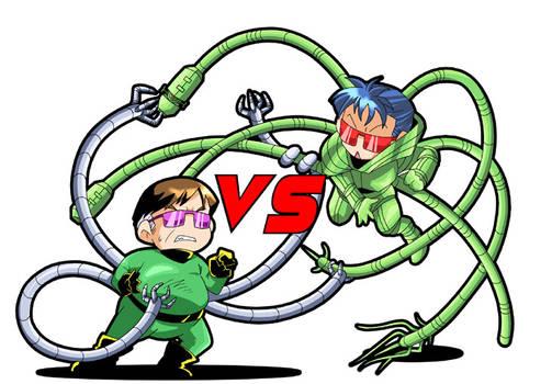 DOC OCK vs Carlyle...chibi.