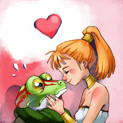 The Princess and the Frog by Vannelee