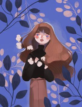 Rose cotton