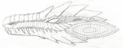 Auragon Head sketch by WoodZilla200
