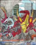 Bubbles vs Fuchou Comic Cover (color verison)