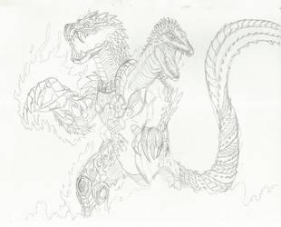 Noho-Kulkan (sketch) by WoodZilla200