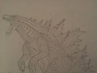 Godzilla 2019 (sketch) by WoodZilla200