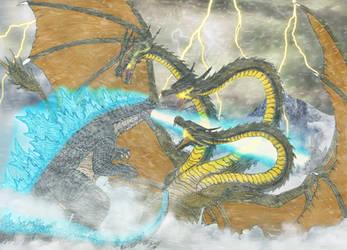 Battle of Old Rival Kings by WoodZilla200