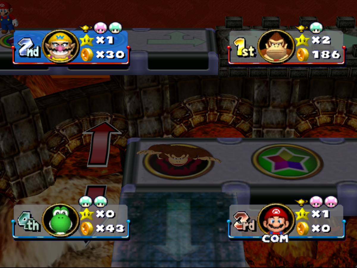 Dk Stomped By Bowser In Mario Party 4 Improved 2 By