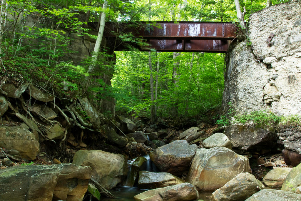 Fall Creek RR Bridge by FOTOSHOPIC