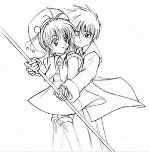 Sakura and Sayoran - Pencil