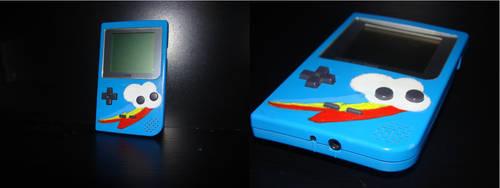 Rainbow Dash Gameboy Pocket [Commission] by Nishi199