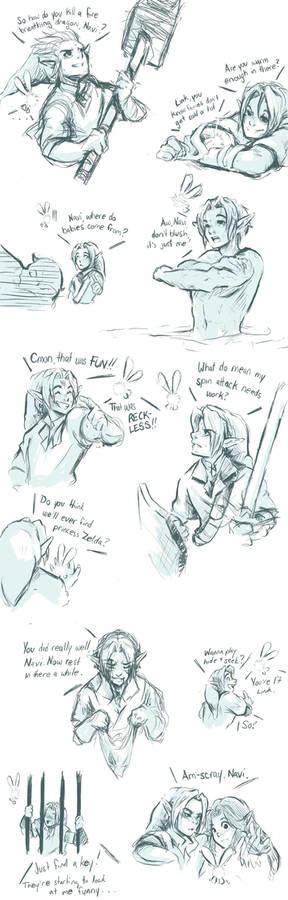 Link and Navi - Doodles