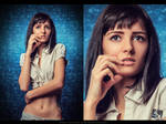 Girl with a tattoo (retouch)