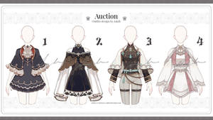(Adoptable auction) Outfits Set02 (Close) by zakilin