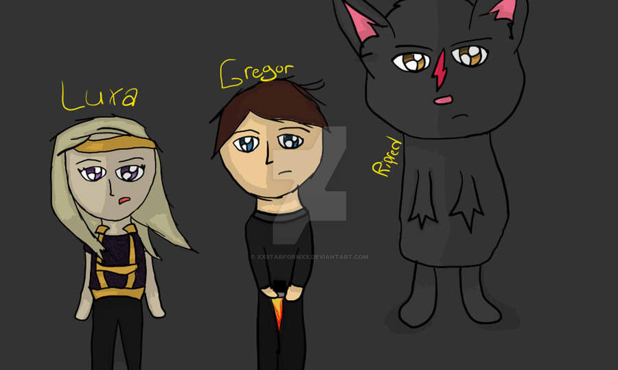 Luxa,Gregor, and Ripred. by xXStarformXx on DeviantArt