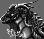 A black dragons head