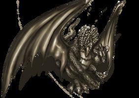 attacking dragon by Niahawk