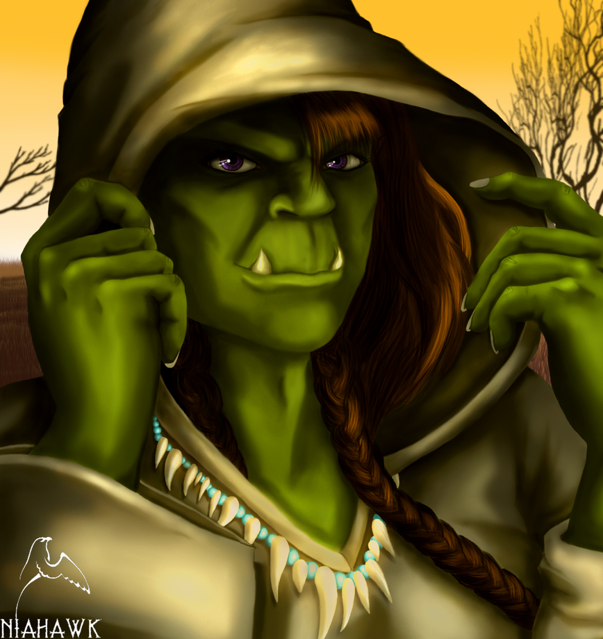 Orc Female - Narlekha by Niahawk