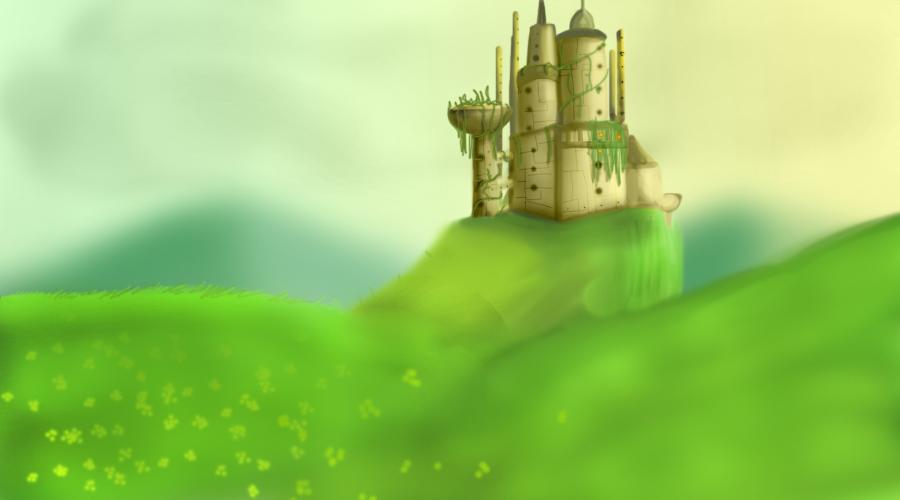 Castle on a Hill by horyokun