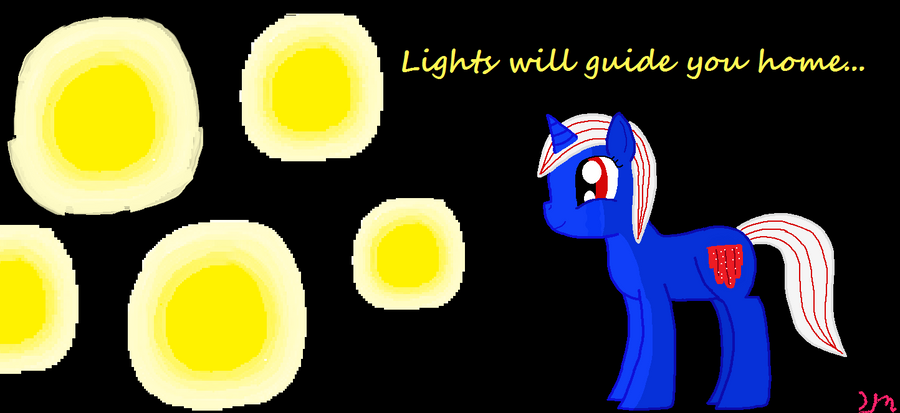 and the lights will guide you home