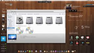 Mac + rainmeter for Windows 7 by imcoolkk