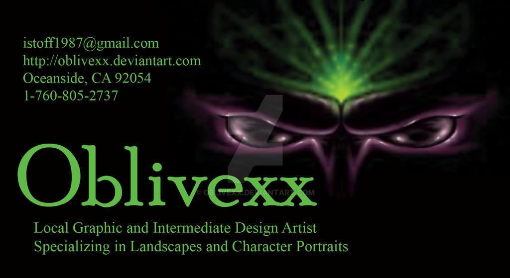 Oblivexx Business Card by Oblivexx