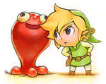 toon link drawing