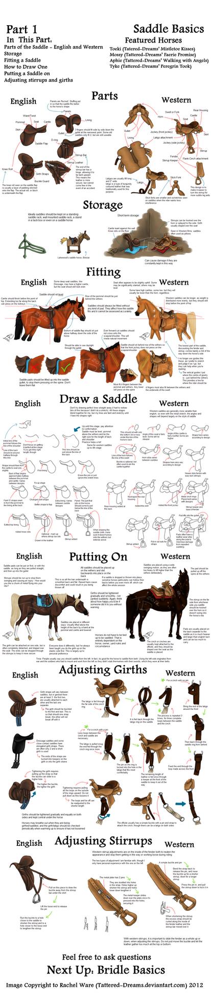Mega Tack Tutorial Part 1 - Saddle Basics by Tattered-Dreams