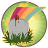 Kaimanawa Level Badge - Over The Rainbow Bridge by Tattered-Dreams