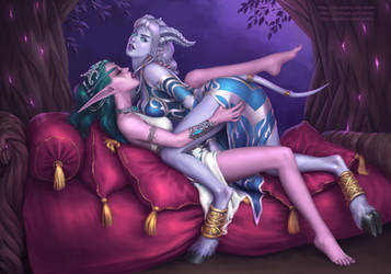 Ishanah With Tyrande by xenbis
