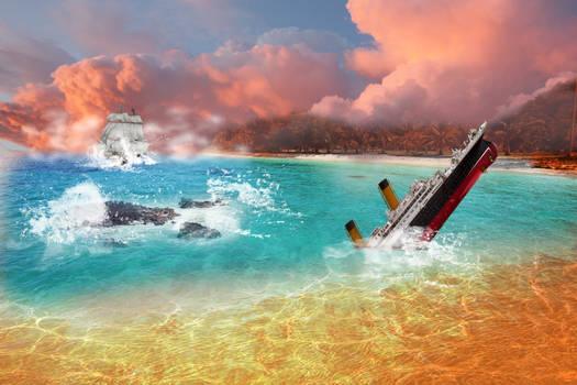 A broken ship had happened