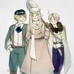 Nyo! Slavic Trio by Mary-kulshina