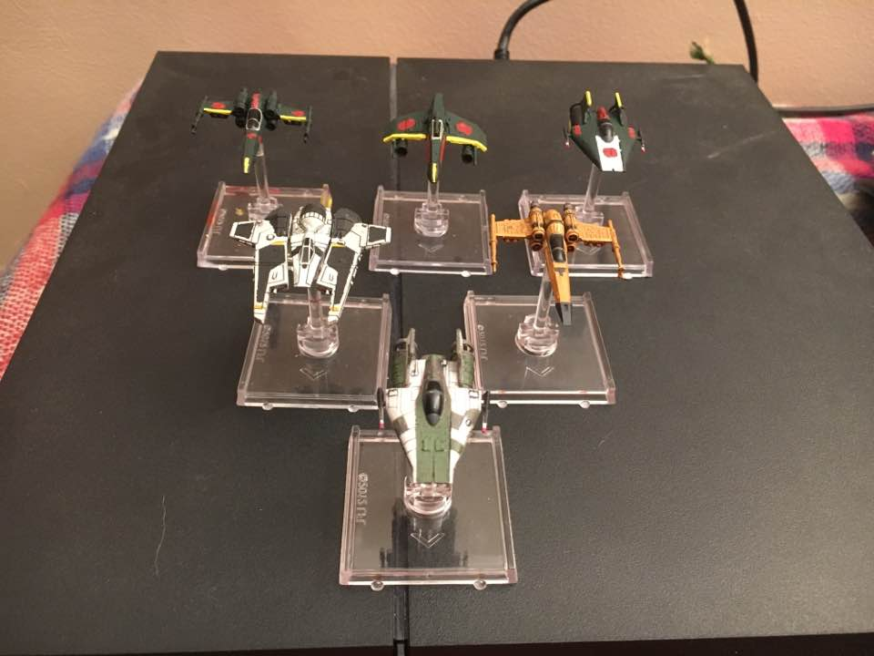 star wars x wing miniatures painted lot 1 by thatguy4802