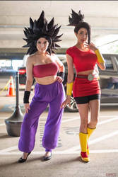 Caulifla and kale cosplay 1