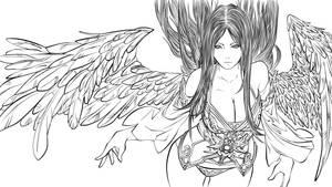 Fallenangel - lineart done