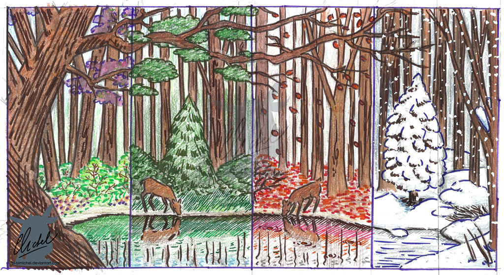 Sketch - Four Seasons by Bi-BiMichel