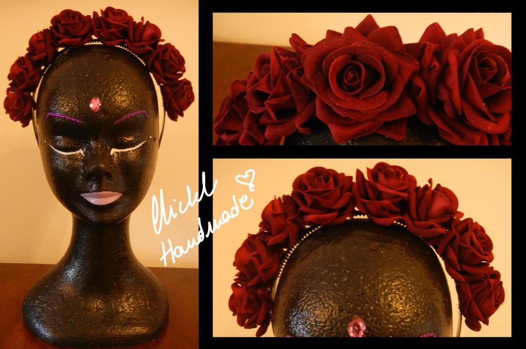 Red Roses Hairband by Bi-BiMichel
