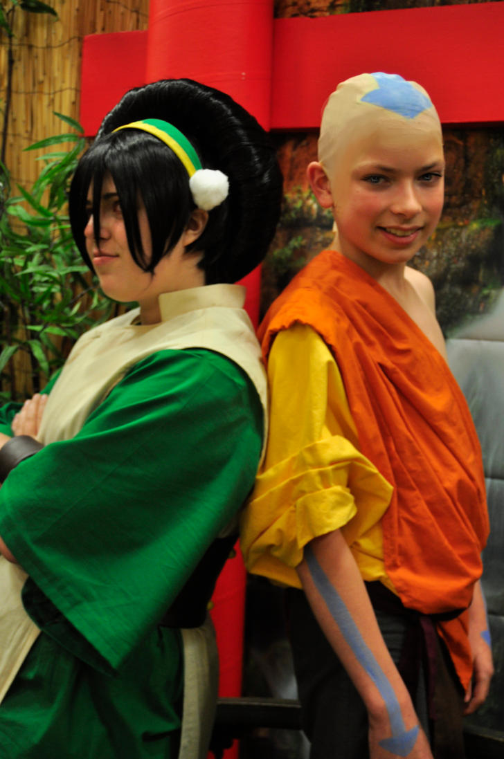 Switched-Toph and Aang by Mumy-chan on DeviantArt