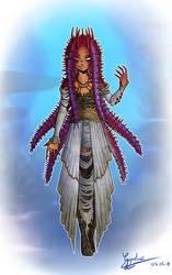 La reine Acanthaster by Guyveluwii